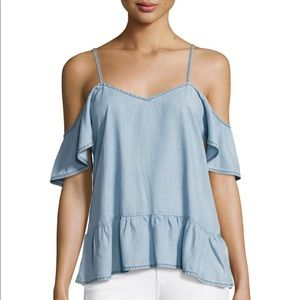 Paige Mitzi Chambray Off The Shoulder Top